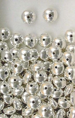 Sterling Silver 10mm Plain Rondelle Spacer Beads, Choice of Lot Size & Price