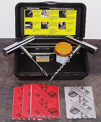 BLACKJACK KT-20SC TIRE REPAIR COMPACT KIT ATV CAR LT TRUCK CHROME TOOLS 20 Plugs