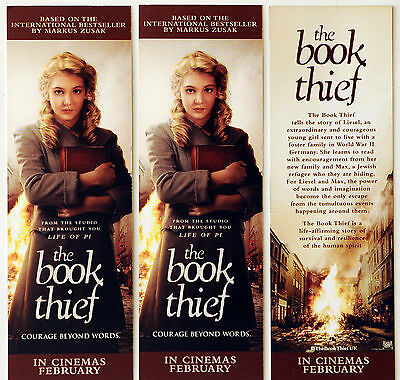 3 X The Book Thief Bookmarks - Sophie Nelisse - Brand New