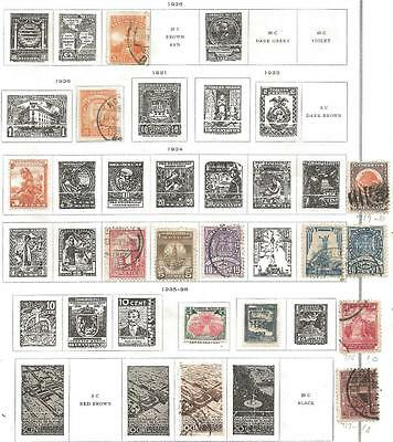 14 Mexico Stamps from Quality Old Album 1926-1938