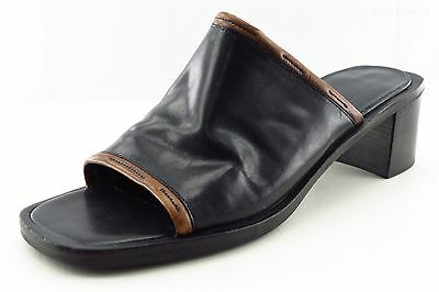 Cole Haan Country Slides Black Leather Women Shoes Size 8 Medium