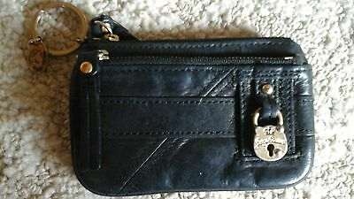 Black leather juicy couture coin purse wallet