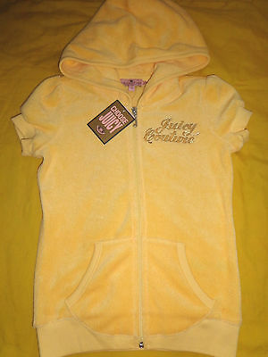 Juicy Couture Toddler Girl Jacket Hoodie Size 7 Yellow Color