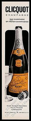 1958 Veuve Clicquot Brut champagne 1952 bottle photo vintage print ad