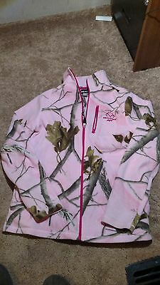 REALTREE pink camouflage jacket size S/CH (fit size 14/16 girl) Zipper front