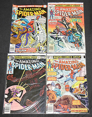 Marvel Bronze Age AMAZING SPIDER-MAN 9pc Count Mid Grade Comic Lot FN- to FN