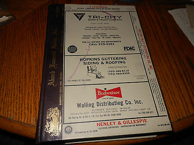 Vintage 1986 Bristol Tennessee Virginia City Directory Ads Info Reference Guide