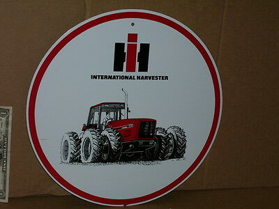 IH International Harvester - SIGN - Shows one of those EXPENSIVE 8 Tire TRACTORS
