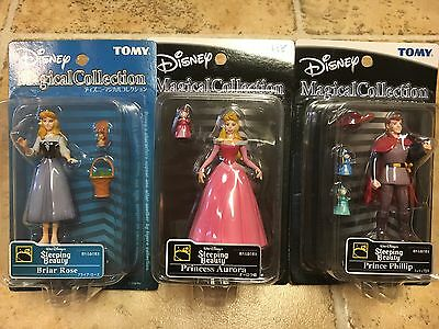 NEW DISNEY Magical Collection Figures TOMY Aurora Prince Briar Sleeping Beauty