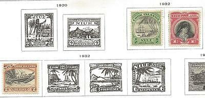 3 Niue Stamps from Quality Old Album 1932