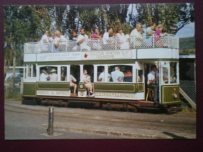 Postcard Seaton Tramway - Tram No 8  Fully Loaded With Passengers