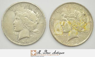 Lot 1922 & 1923 Peace Silver Dollar Collection *338