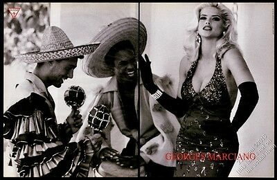 1993 Anna Nicole Smith dress photo Georges Marciano Guess BIG vintage print ad