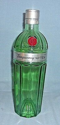 Tanqueray No 10 Imported Distilled Gin Bottle Empty