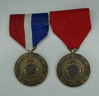 Set of two Wisconsin National Guard Service medals