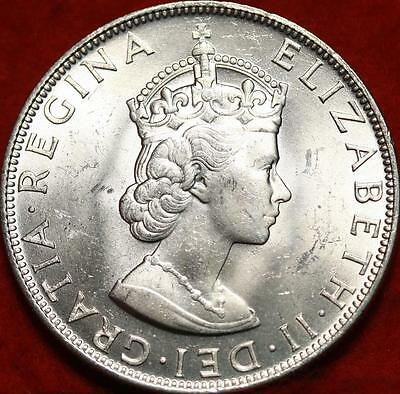 Uncirculated 1964 Bermuda 1 Crown Silver Foreign Coin Free S/H