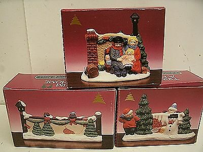 Christmas Village Accessories lot Trim a Home Boxed