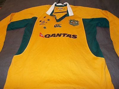 WALLABIES - OFFICIAL TEAM REPLICA JERSEY (canterbury) - LARGE -SEE DESC FOR SIZE