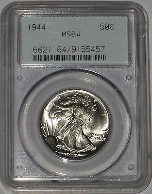 Gorgeous 1944 Walking Liberty Silver Dollar PCGS Graded MS64 Top Quality Example