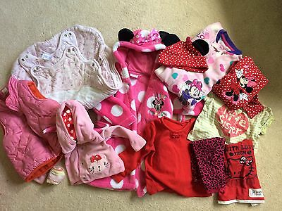 Baby Girl Clothes Bundle 6-12 Months 9 Items Mini Mouse