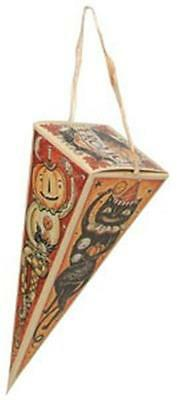 Lot of 4 Johanna Parker Vintage  Style Triangle Halloween Candy Boxes  Frolic