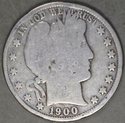 1900 Barber Half Dollar Silver Coin