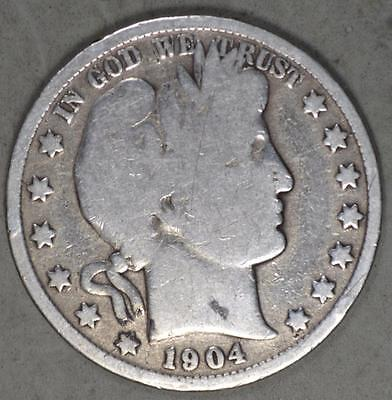 1904 Barber Half Dollar Silver Coin
