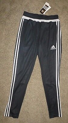 NWT Adidas Youth Tiro 15 Pants Jogger Training Dark Grey White Size XS X-Small