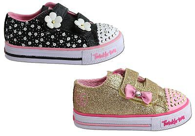 New Skechers S Lights Shuffles Darling Daisy Toddler Girls Light Up Shoes