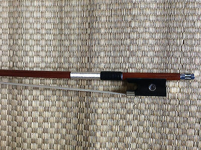 NEW 4/4 Violin Bow pernam Pure Silver Mounted