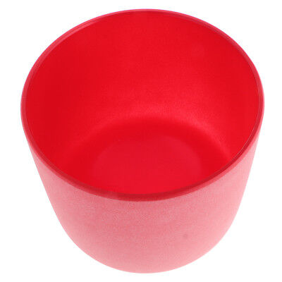 7 Inch Frosed C Note Root Chakra Quartz Crystal Singing Bowl Red Perfect
