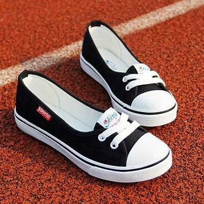 Women Canvas Peas shoes Flats Loafers Sports Boat Flats Slip Shoes Sneakers D1