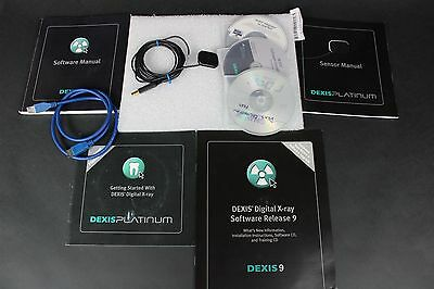 Dexis Platinum Size-1 Digital Dental X-Ray Sensor w/ Software Discs & Manuals
