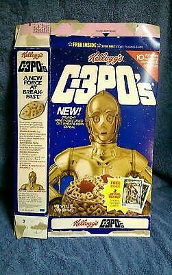STAR WARS C-3POs 1984 Kelloggs Vintage Empty Cereal Box