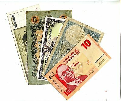 Lot Of 15 Different Foreign Banknotes Vg Or  Better Nr 8.95
