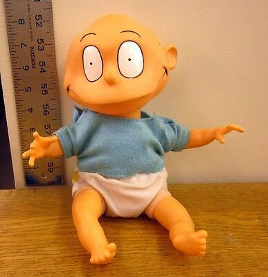 RUGRATS plush doll Tommy Pickles toy Nickelodeon baby in diaper 1990s