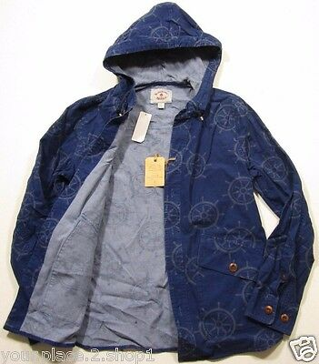 Brooks Brothers Men's 'Red Fleece' Navy Blue Nautical Printed Hooded Jacket