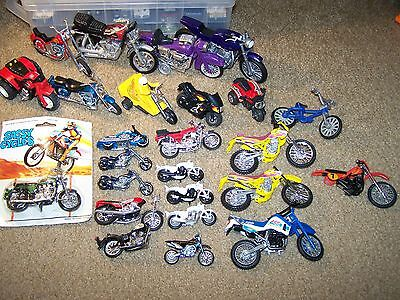 Lot Of Toy Motorcycles-