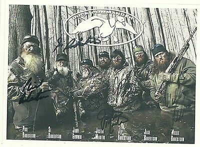 DUCK DYNASTY  Si Jay Willie Phil Robertson RP Autographed HQ FRIDGE MAGNET *037