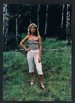 FOTO vintage PHOTO, Frau im Wald sweet woman forest femme foret snapshot /119