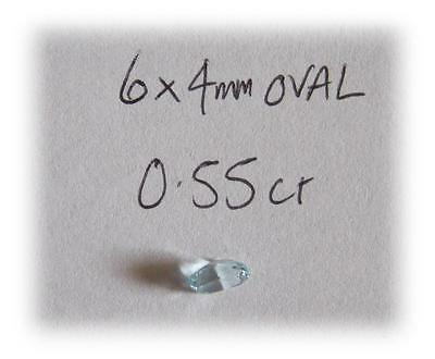 6x4mm OVAL LIGHT-BLUE NATURAL AQUAMARINE GEMSTONE 0.55 CARAT