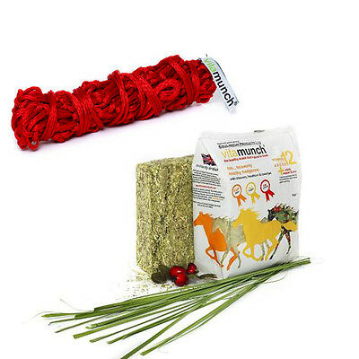 VITA MUNCH HEDGEROW snack AND MUNCH NET horse healthy tasty high fibre snack