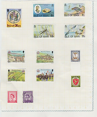 Isle of Man - 13 QE2 stamps