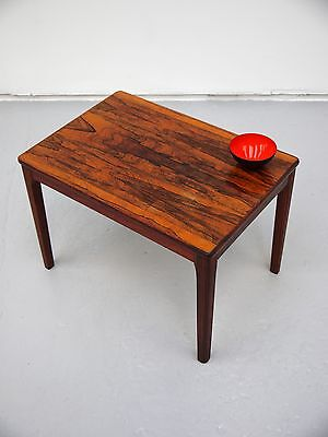 1960s VINTAGE ORIGINAL ROSEWOOD SIDE TABLES BY AB SEFFLE MADE IN SWEDEN DANISH