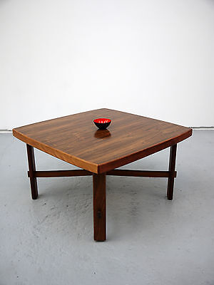 1960s VINTAGE ORIGINAL LARGE ROSEWOOD DANISH COFFEE TABLE DENMARK MID CENTURY