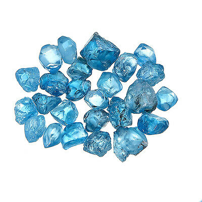 Rough Blue Zircon from Cambodia for Lapidary