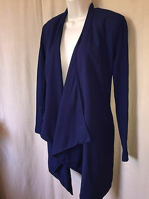 GOK for Tu navy blue long waterfall jacket size 10