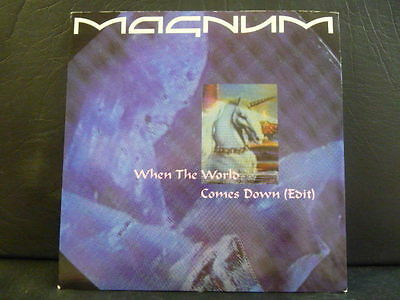 """Magnum """" When The World Comes Down  """" Ex Cond.in Pic Sl."""