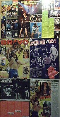 6 german clipping AC/DC ANGUS YOUNG ROCK BOY BAND BON SCOTT BOYS GROUP VINTAGE