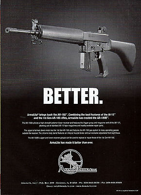 2004 ARMALITE AR-180 RIFLE Photo AD Collectible Firearms Advertising